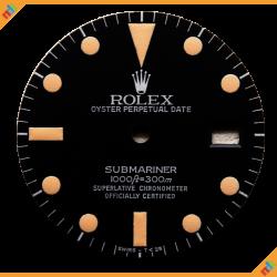 Dial Rolex Ref 16800 Matte Dial Patina Lume