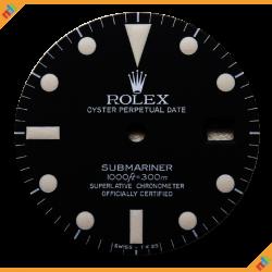 Dial Rolex Ref 16800 Matte Dial White Lume