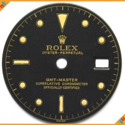 Dial Rolex GMT Ref 1675 Chapter Ring Gilt Dial ST 04-GNTD