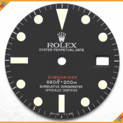 Dial Rolex Ref 1680 Red Submariner off White Lume